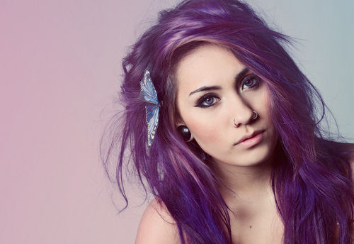 beautiful-purple-hair