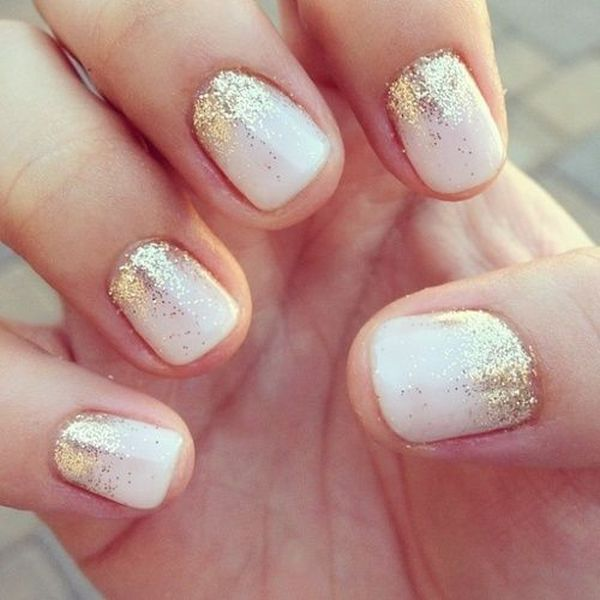 gold-ombre-glitter-nails