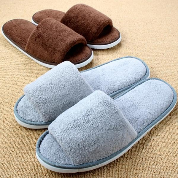 2016-New-Autumn-Winter-Travel-Hotel-Soft-Home-Coral-Fleece-Thicken-Woman-Indoor-Slippers-For-Men (Copy)