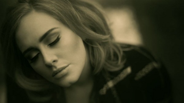 "Adele, in a video for ""Hello."""