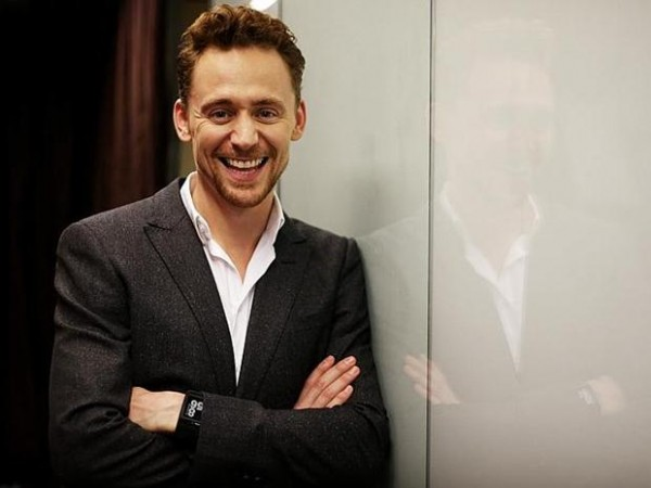 Pictured is Thor, Thor 2 and Avengers actor Tom Hiddleston at Channel 7 in Martin place today who is in town from the UK.