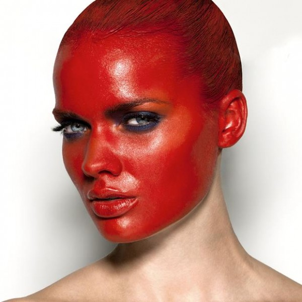 red-facepaint