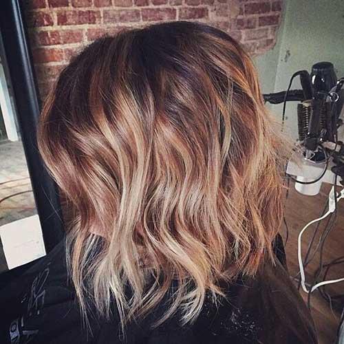 Nice-Brown-Bob-with-Balayage-Hair