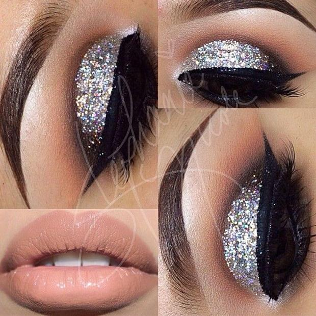 Shimmer-Eye-Makeup-and-Nude-Lip