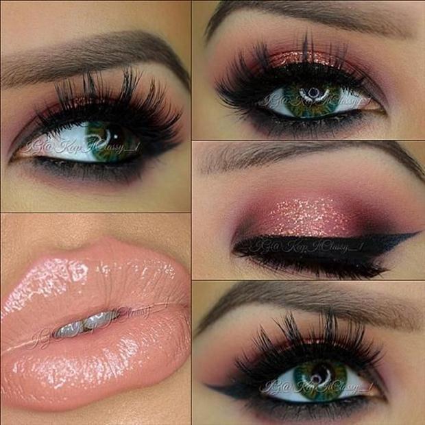 Smoky-Pink-Eye-Makeup-Idea-with-Nude-Lips