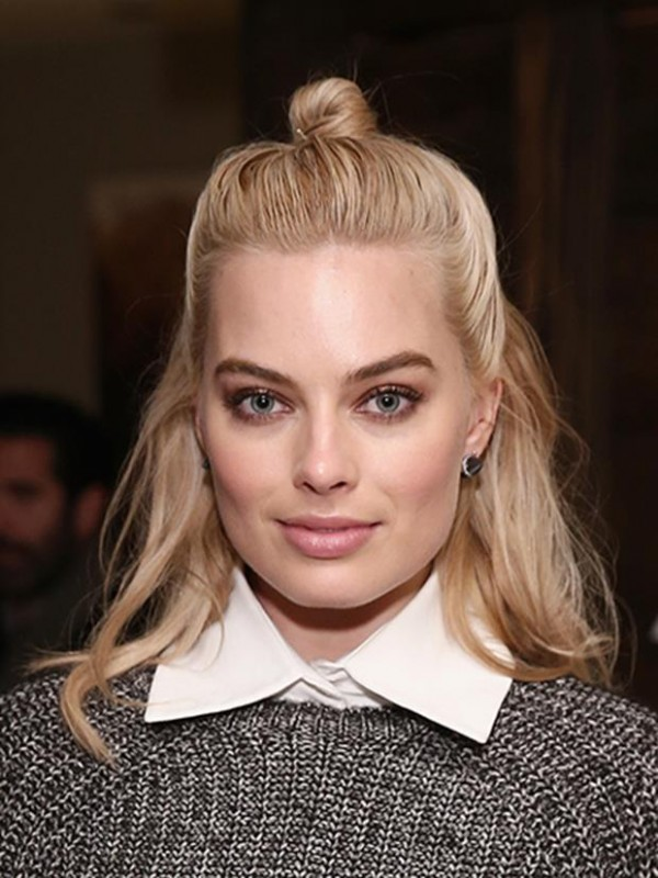 "PARK CITY, UT - JANUARY 24: Actress Margot Robbie attends the ""Z for Zachariah"" Dinner at The Acura Studio on January 24, 2015 in Park City, Utah. (Photo by Neilson Barnard/Getty Images for Acura)"