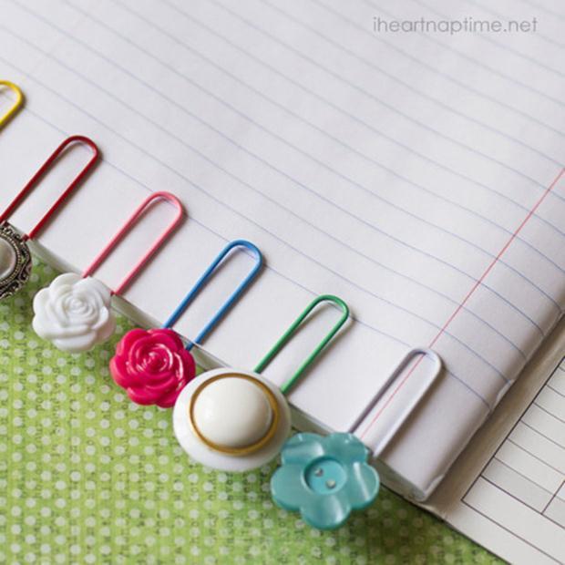 button-paper-clips