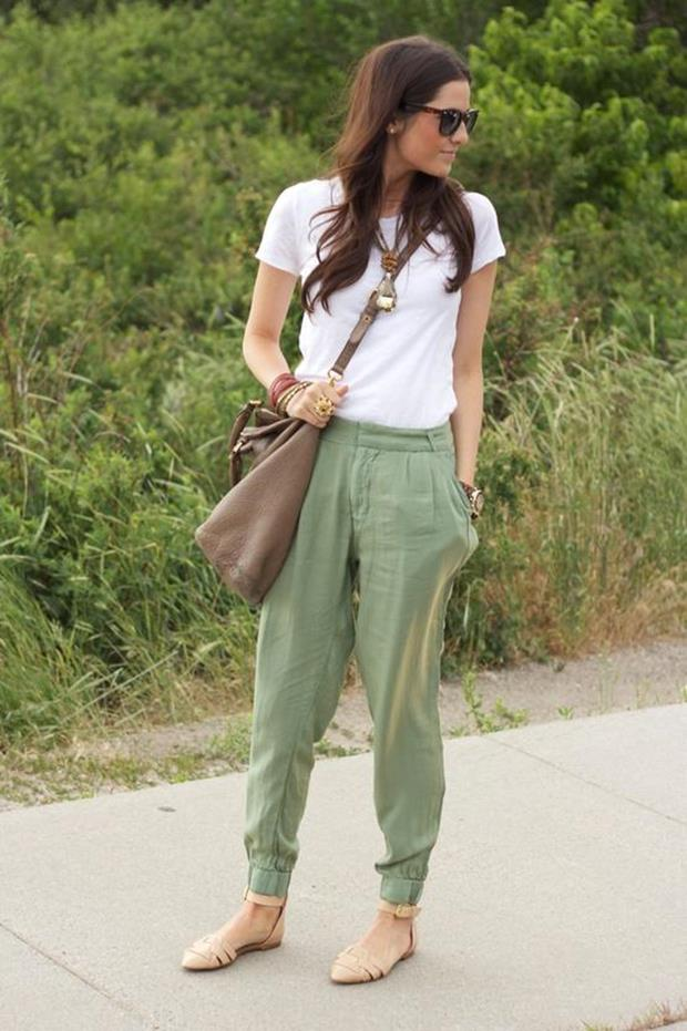 Pants-and-sandals