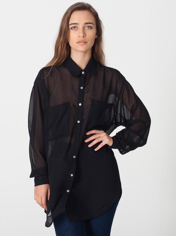 american-apparel-chiffon-oversized-button-up