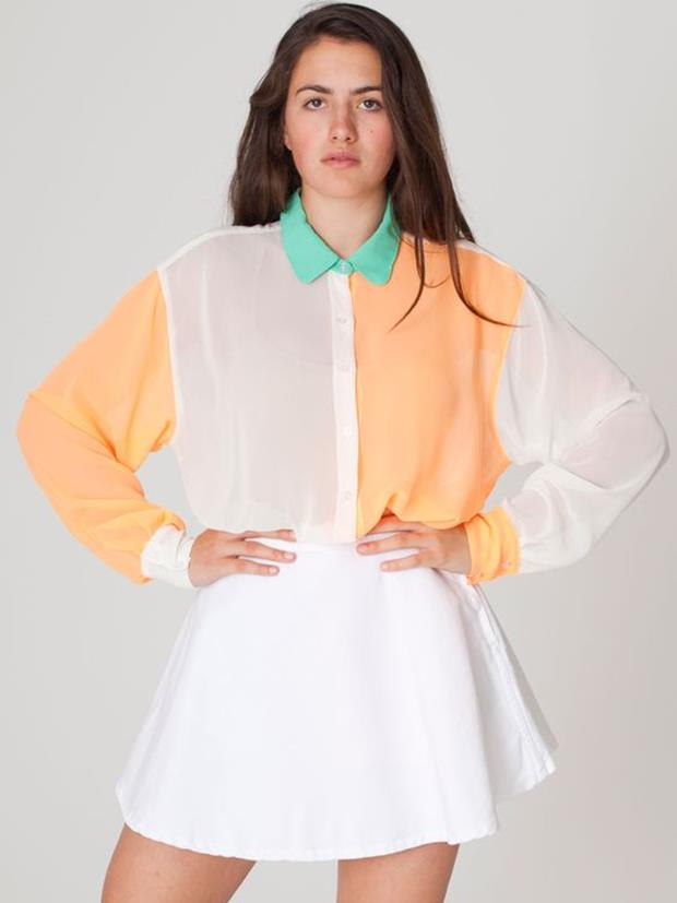 color-block-collar-blouse