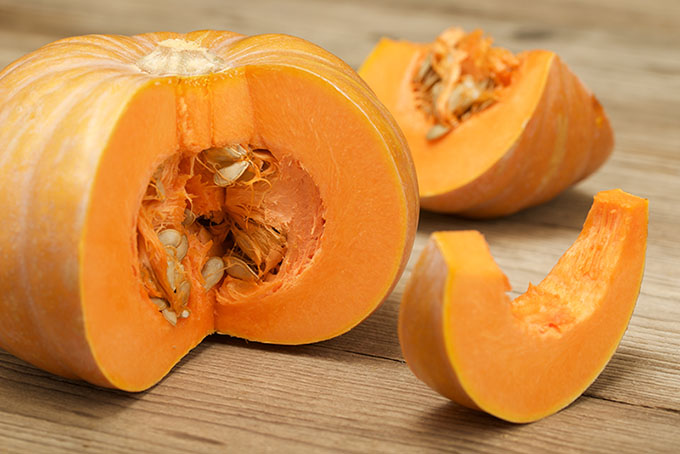 pumpkin on a wooden background